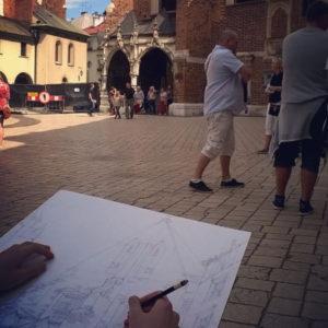 wakacyjny kurs rysunku Kraków, nauka rysunku od zera w wakacje Kraków, krakowski plener rysunkowy