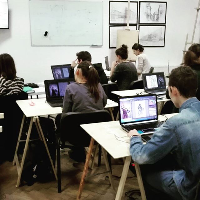 digital painting kraków, kurs photoshop tablet, concept art, game design kraków