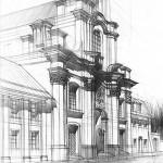 kurs rysunku architektura historyczna rysunek kościoła kraków