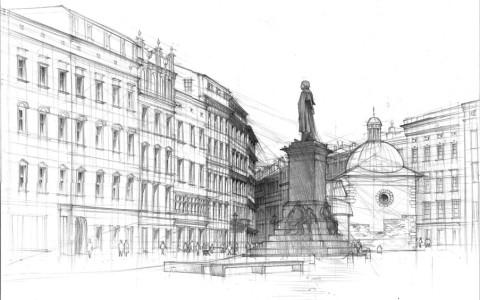 nauka rysunki odręcznego, technicznego architektonicznego, rysunek ołówkiem, techniki rysunkowe, kurs rysunku w Krakowie, rysunek z natury, plener rysunkowy