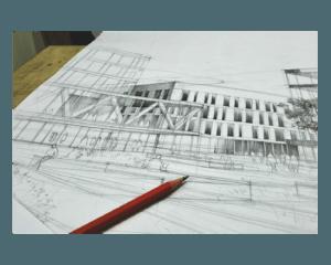 nauka rysowania w krakowie, szkolenie z rysunku, jak dostać się na architekturę, rysunek architektury współczesnej ołówkiem