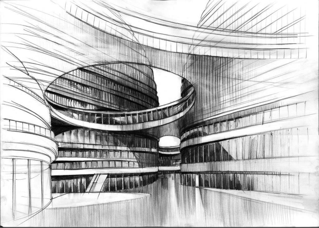 kurs rysunku nowoczesna architektura projekty
