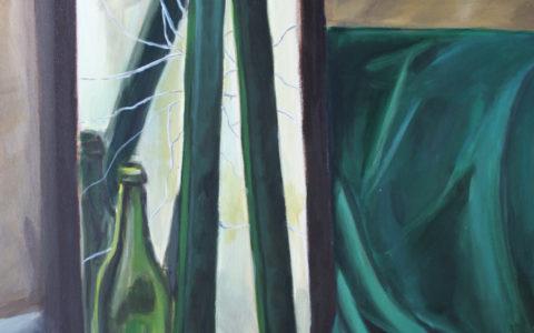 martwa natura farbami, malowanie szkła, malowanie pękniętego lustra, tworzenie teczki na egzamin na asp