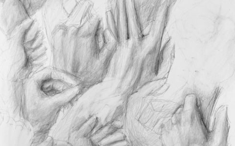 rysowanie postaci, kurs rysowania postaci w Krakowie, studium dłoni, jak narysować dłoń,