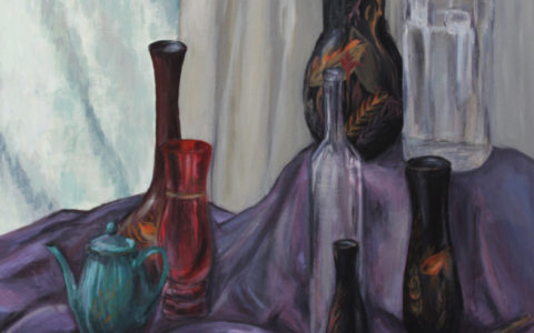 martwa natura farbami, portfolio na kierunki artystyczne, jak malować farbami, jak przedstawić faktury farbami