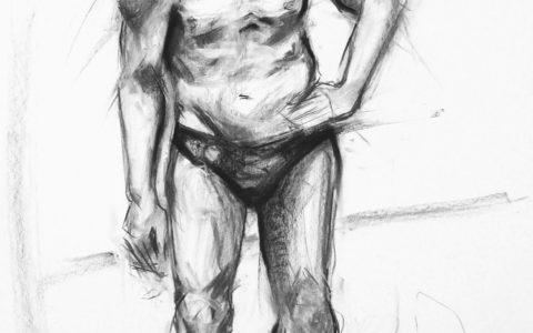 rysowanie postaci węglem, anatomia człowieka na rysunku, proporcje ciała człowieka, studium postaci, kurs rysowania postaci kraków