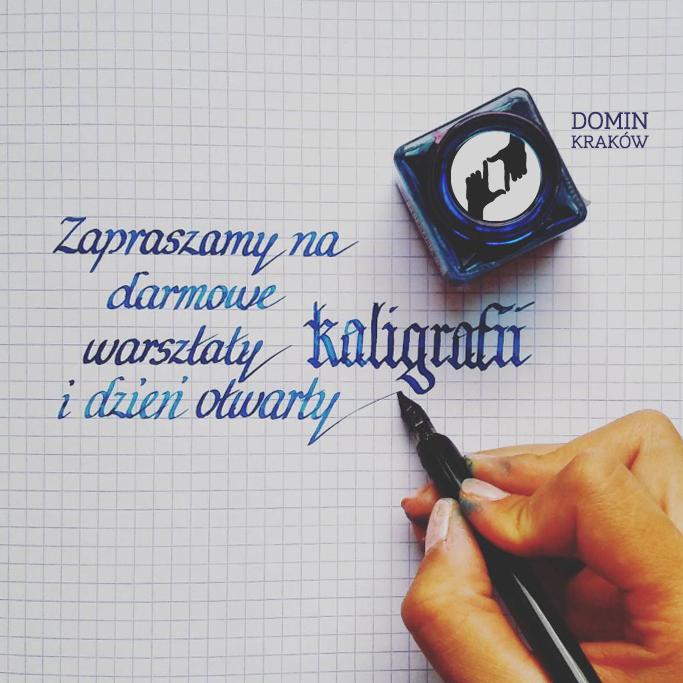 warsztaty z kaligrafii Kraków, jak nauczyć się ładnie pisać, czym jest kaligrafia, dzień otwarty pracowni DOMIN