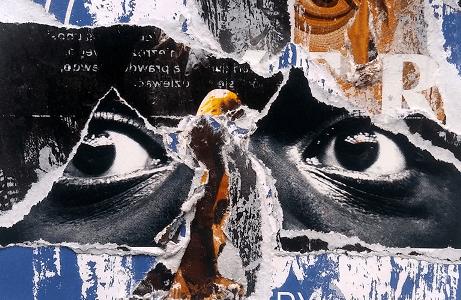 sztuka tworzenia plakatów, kolaż artystyczny
