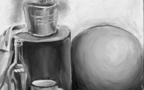 martwa natura akrylem, przygotowanie do egzaminów na asp, jak nauczyć się malować akrylem, kurs malarstwa kraków