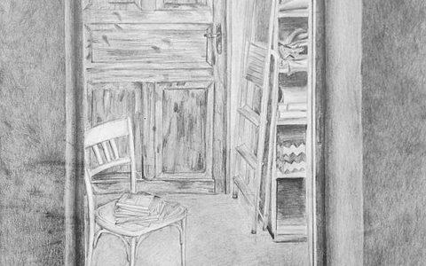 rysowanie wnętrza z natury, rysunek wnętrza ołówkiem, rysunek perspektywiczny wnętrza, jak wykorzystać perspektywę w życiu codziennym