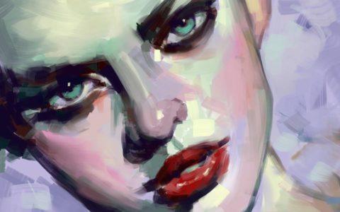portret digital painting, kurs photoshopa w krakowie, jak zrobić portret w photoshopie, rysunek na tablecie
