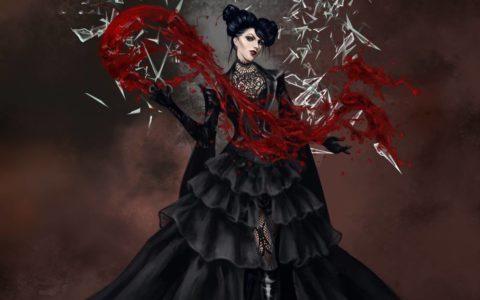 krwawa mary concept, art concept, digital painting, projektowanie postaci, jak narysować krew