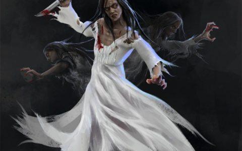 biała dama concept, projekt grafiki do białej damy