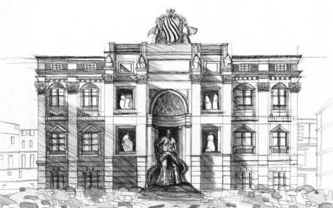 rysunek architektury historycznej cienkopisem, jak dostac się na architekturę, kursy rysunku kraków