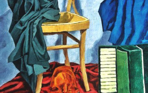 Obraz do teczki na ASP, przedstawiający martwą naturę