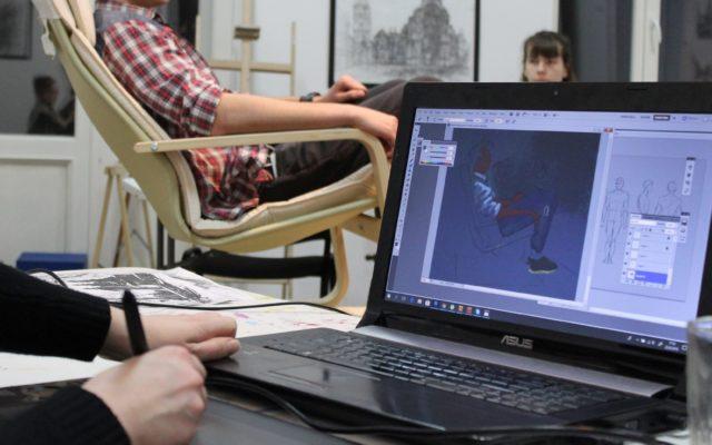 postac z natury digital art, rysowanie postaci na tablecie z natury, kurs digital painting, kurs rysowania postaci