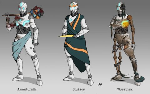 concept robota digital design, projektowanie graficzne, koncept postaci do gier, projekty postaci fantastycznych