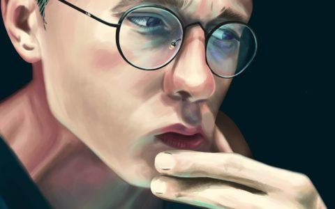 portret malowany w photoshopie concept art