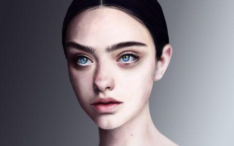 malowanie portretu na tablecie digital painting