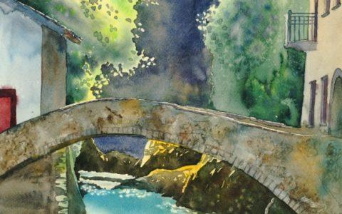 most akwarela, kurs akwareli w krakowie, akwarela dla początkujących