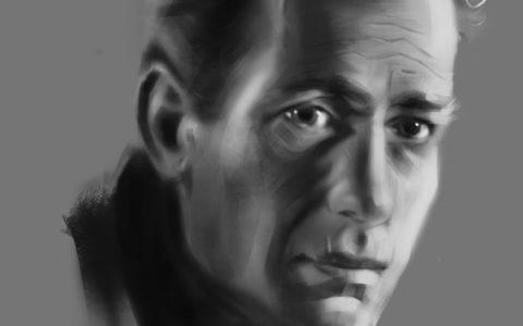 szkicowy portret digital painting kurs