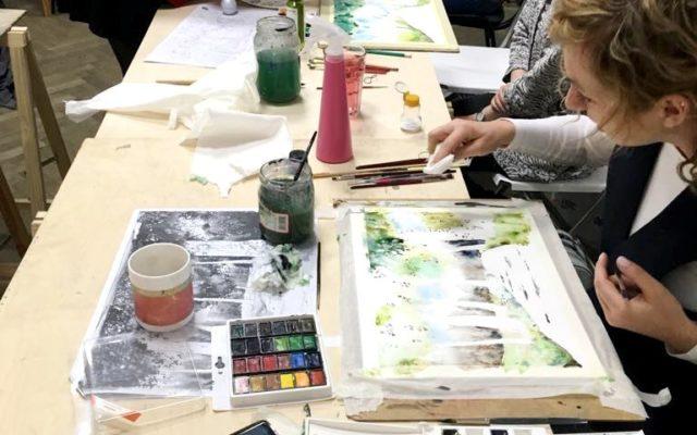 pracownia malarska w krakowie, kurs malarstwa akwarelowego od podstaw, malowanie akwarelą, zajęcia z malarstwa